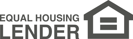 Equal Housing Lender. logo icon is an equals sign inside a house.