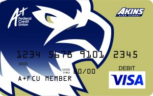 Akins Eagle Debit Card | A+FCU Akins High School Branch